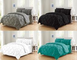 8 Piece Luxury Juliet Pintuck Bed in a Bag Comforter Bedding