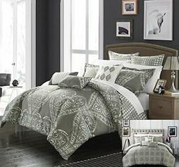 Chic Home 6 Piece Sicily Oversized Overfilled Comforter Set,