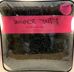 7 PC Betsey Johnson, Floral Inverse Rose Pattern Comforter B