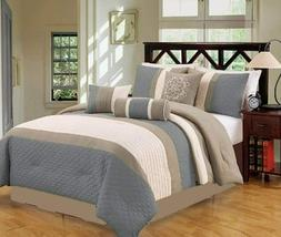 7-PC Oversize Stripe Embossed Comforter Set