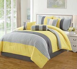 DCP 7 Pieces Bed in Bag Microfiber Luxury Bedding Comforter