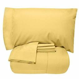Sweet Home Collection 7 Piece Comforter Set Bag Solid Color