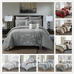 7 Piece Comforter Set - Complete Bed in a Bag King Queen Cal