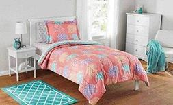 7 Piece Girls Peach Elle Boho Comforter Full Set Orange Kids