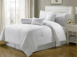 7-Piece Hotel Dobby Stripe Comforter Set Bed-In-A-Bag