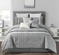 7 piece jessie gray comforter set