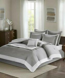 Comfort Spaces 7 Piece King Comforter Set In Grey