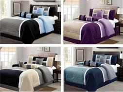 DCP 7 Piece Luxury Quilted Patchwork Comforter bedding Sets