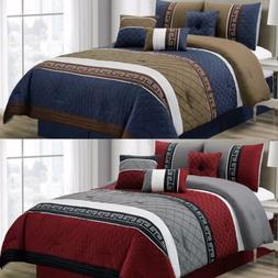 Chezmoi Collection 7-piece Pleated Diamond Quilted Embroider