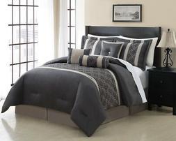 7 Piece Renee Embroidered Comforter Set