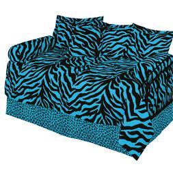 7pc Blue Zebra Leopard Daybed Bedding Set Karin Maki Comfort