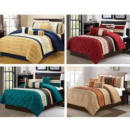 DCP 7Pcs Bedding Set Comforter Sets Bed in a Bag- Queen King