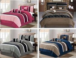 DCP 7Pcs Collection Bed in Bag  Microfiber Comforter Set, Ki