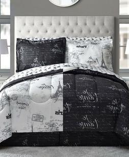 8 pc queen comforter set paris eiffel