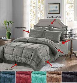8-Piece Comforter Set Bamboo Print Silky-Soft™ Hypoallerge