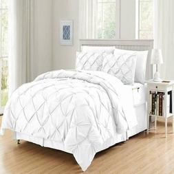 Elegant Comfort 8-Piece Bed-in-a-Bag Pintuck Comforter Set -
