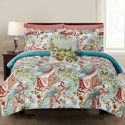 8 Piece Comforter Set Bedding Elegant Soft Fitted Flat Sheet