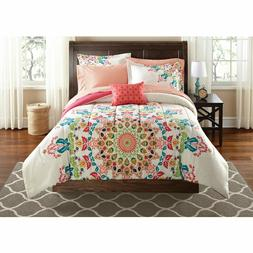 8 Piece Comforter Set Full For Girls Teen Size Bedding Rainb