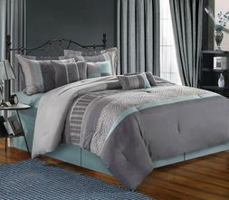 Chic Home 8-Piece Euphoria Embroidered Comforter Set, King,G