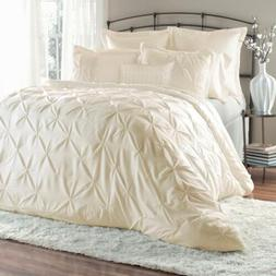 Unique Home 8-Piece Lucilla Pinch Pleat Comforter Sets Bed i