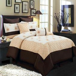 8-Piece Madison Gold Comforter Set 100% Polyester  Durable a