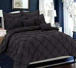 Unique Home 8 Piece Maison Pinch Pleat Bed Comforter - Rever