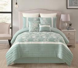8 Piece Maris Aqua Comforter Set