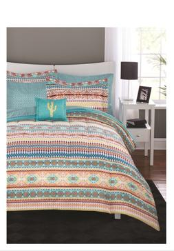 8 Piece Tribal Stripe Full Size Comforter Set Bed In A Bag S