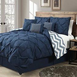 Avondale Manor Ella Pinch Pleat Reversible 7-piece Comforter