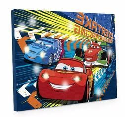 Disney Cars 3 LED Canvas Wall Art, 15.75-Inch x 11.5-Inch