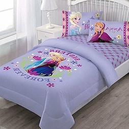 Disney Frozen Nordic Summer Florals Twin Comforter Set with