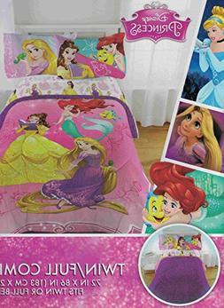 Disney Princess Bedazzling 6-Piece Full Comforter, Sheet Set