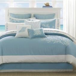 Harbor House Coastline Queen Size Bed Comforter Set - Blue,