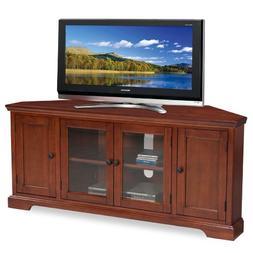 Leick Westwood Corner TV Stand, 60-Inch, Cherry Hardwood