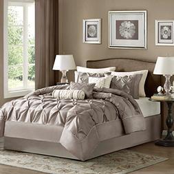 Laurel Comforter Set - Size: California King, Color: Taupe