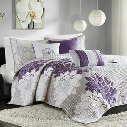 Madison Park MP13-2313 Lola 6 Piece Quilted Coverlet Set, Ki