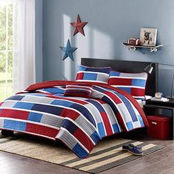 Mi-Zone Bradley Full/Queen Size Teen Boys Quilt Bedding Set