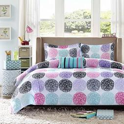 Mi Zone - Carly Comforter Set - Purple - Twin/ Twin XL - Doo