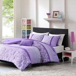 Mi-Zone Riley Comforter Set Full/Queen Size - Purple, Floral