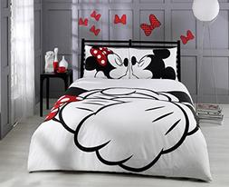Paris Home 100% Cotton 5pcs Disney Minnie Loves Kisses Micke