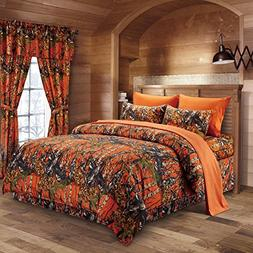 Regal Comfort The Woods Orange Camouflage Full 8pc Premium L