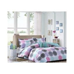 Twin Xl Reversible Comforter Set Pink Teal Purple Bedding Te
