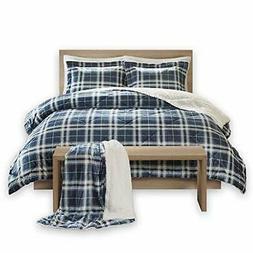 Comfort Spaces - Aaron Sherpa Comforter Set + Throw Combo -