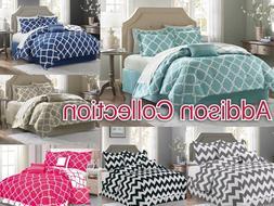 Addison Collection 10-Piece Comforter Set Reversible Bedding