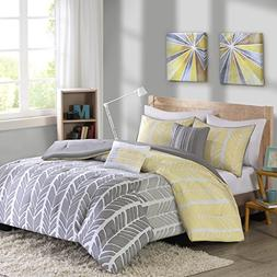 Intelligent Design ID10-750 Comforter Set, Full/Queen, Yello