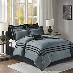 Comfort Spaces Adelia Comforter Set - 7 Piece – Grey and B