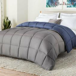Linenspa:All-Season Reversible Down Alternative Quilted Comf