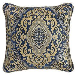 "Croscill Allyce Decorative Pillow, 18"" x 18"", Blue"