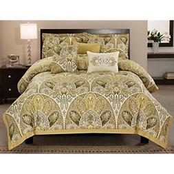 RT Designers Collection Amaretto Cotton Comforter Set, 6 Pie