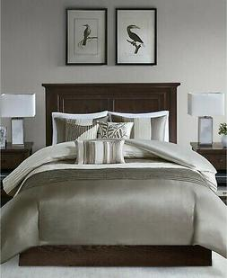 Madison Park Amherst 7-Piece King Comforter Set in Ivory/Bei